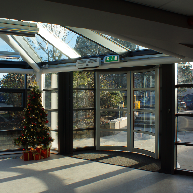 Main entrance...